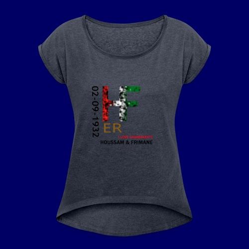 H&F ER - Maglietta da donna con risvolti
