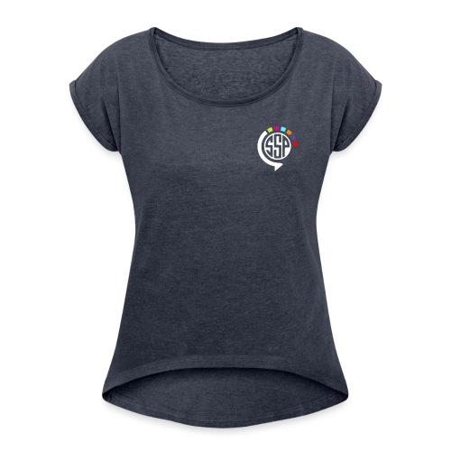 logossp1 - T-shirt à manches retroussées Femme