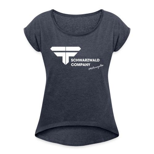 Schwarzwald Company S C Motorcycles - Frauen T-Shirt mit gerollten Ärmeln