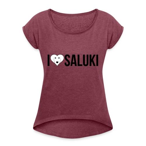 I Love Saluki - Maglietta da donna con risvolti