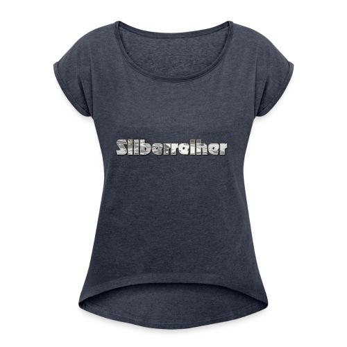 Silberreiher - Frauen T-Shirt mit gerollten Ärmeln