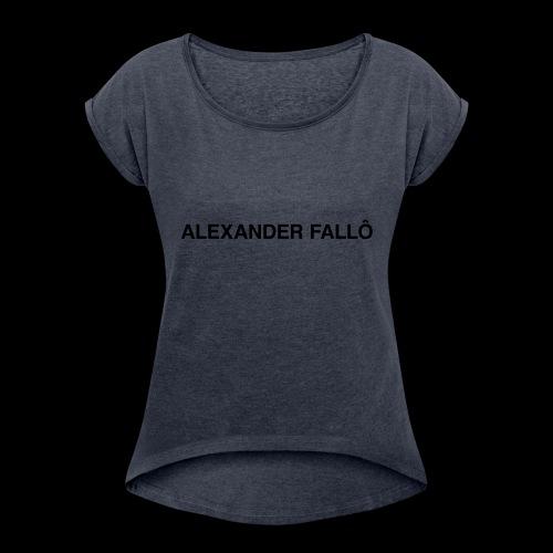 fuckboy/basicbitch tee - T-skjorte med rulleermer for kvinner