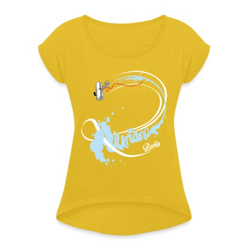 Kunstflug - Frauen T-Shirt mit gerollten Ärmeln