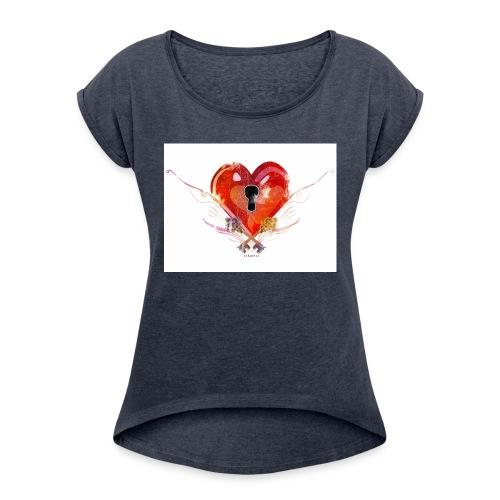 stvalentinmotif2 - T-shirt à manches retroussées Femme