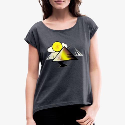 pyramid - Camiseta con manga enrollada mujer
