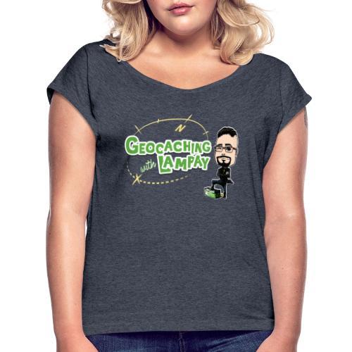 Geocaching With Lampay - T-shirt à manches retroussées Femme