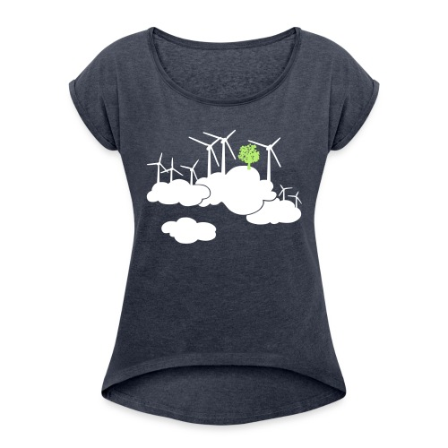 ein frischer Wind - Frauen T-Shirt mit gerollten Ärmeln