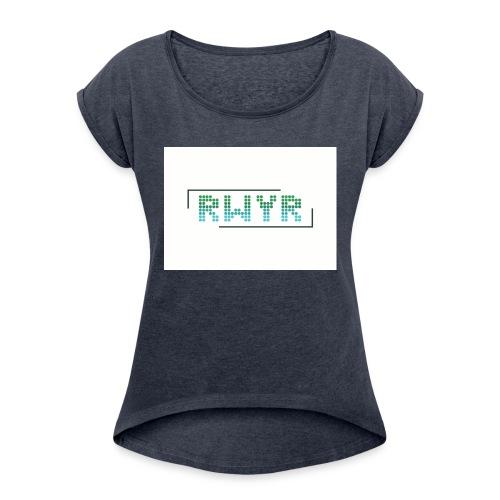 RWYR Normal White - Vrouwen T-shirt met opgerolde mouwen