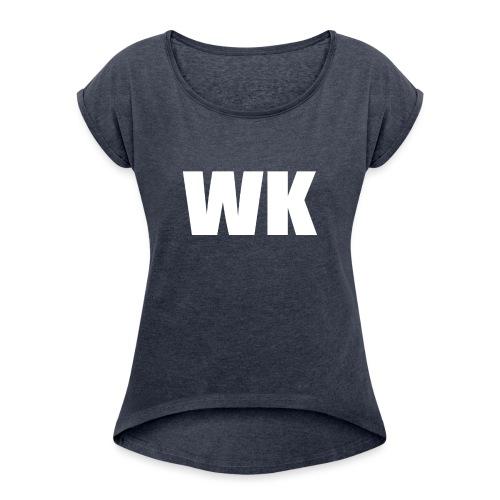 wk sweater - Vrouwen T-shirt met opgerolde mouwen