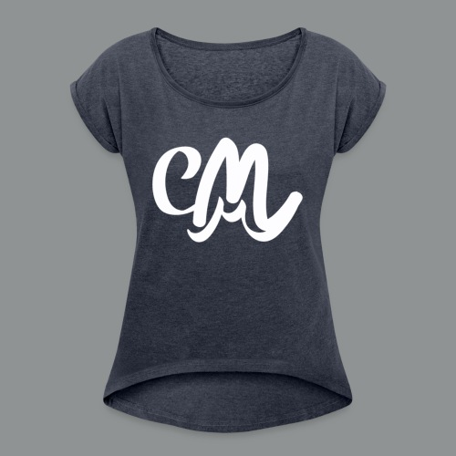 Vrouwen Shirt (voorkant) - Vrouwen T-shirt met opgerolde mouwen