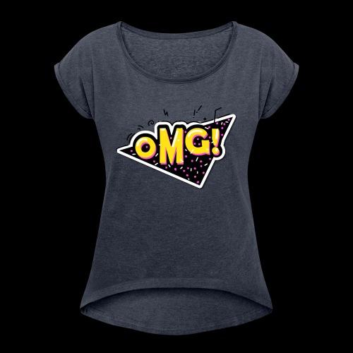 OMG - Maglietta da donna con risvolti