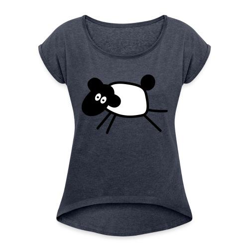 SHEEP - T-shirt à manches retroussées Femme
