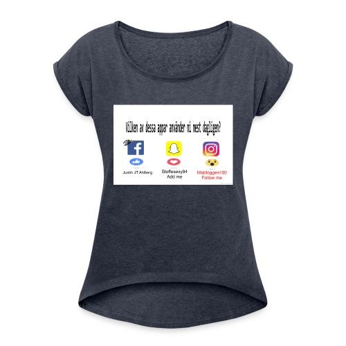 Justin Ahlberg - T-shirt med upprullade ärmar dam