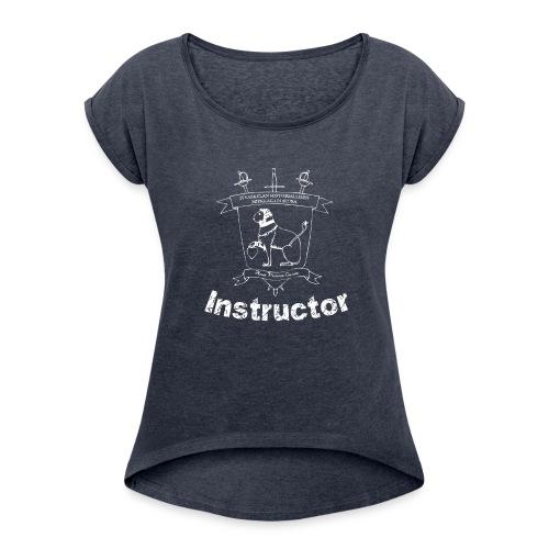 Ohjaajien paita, naisten malli - Naisten T-paita, jossa rullatut hihat
