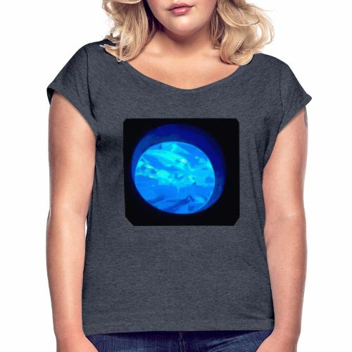 Fischbowl - Frauen T-Shirt mit gerollten Ärmeln