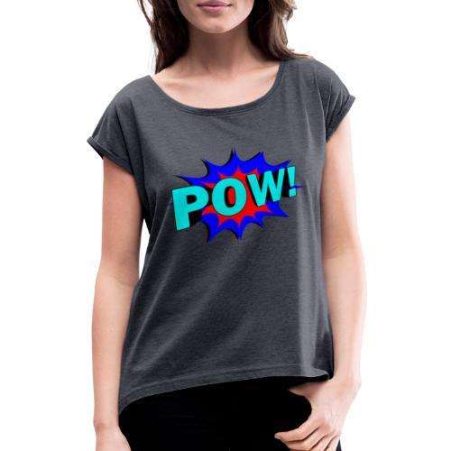 alfa-music - T-shirt à manches retroussées Femme