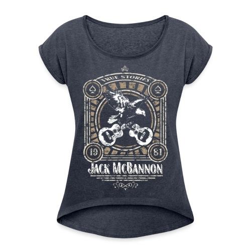 Jack McBannon - Vintage Eagle - Frauen T-Shirt mit gerollten Ärmeln