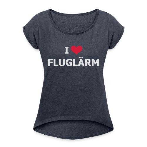 FSC-Schwaben e.V. weiss - Frauen T-Shirt mit gerollten Ärmeln