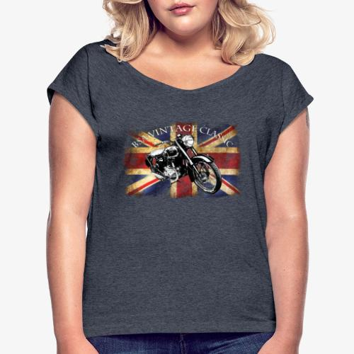 Vintage famous Brittish BSA motorcycle icon - Women's T-Shirt with rolled up sleeves