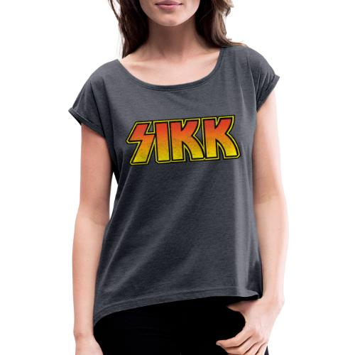 sikk - T-shirt med upprullade ärmar dam