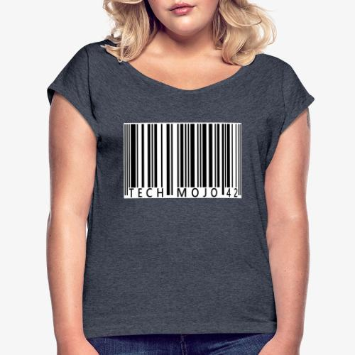 TM graphic Barcode Answer to the universe - Women's T-Shirt with rolled up sleeves