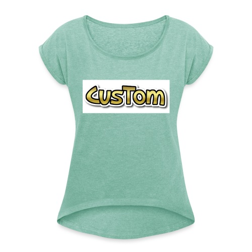 CusTom GOLD LIMETED EDITION - Vrouwen T-shirt met opgerolde mouwen