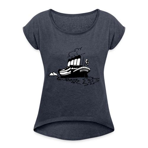 Bretanic - Naisten T-paita, jossa rullatut hihat