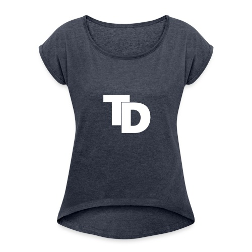 Topdown - Sports - Vrouwen T-shirt met opgerolde mouwen