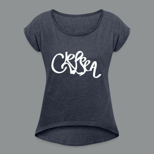 Sweater Unisex (rug) - Vrouwen T-shirt met opgerolde mouwen