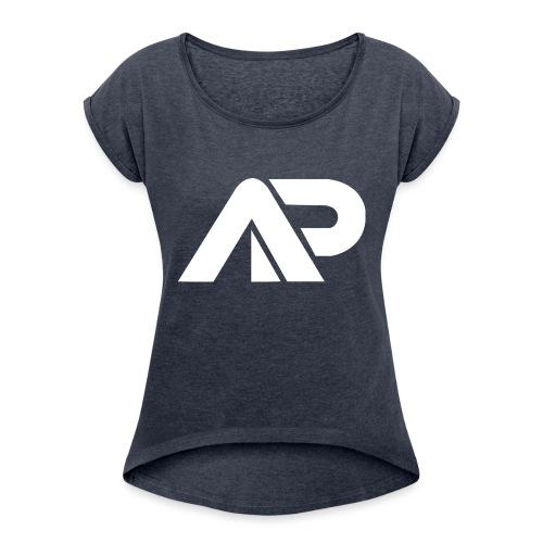 APGP Hvid - Dame T-shirt med rulleærmer