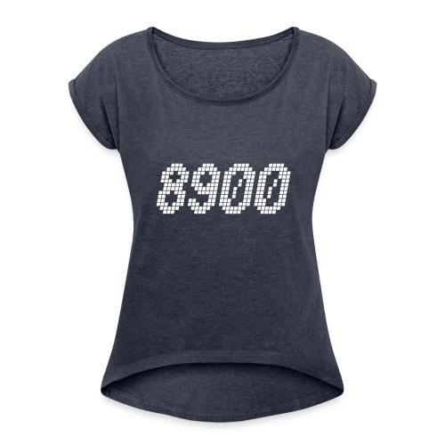 8900 Randers - Dame T-shirt med rulleærmer