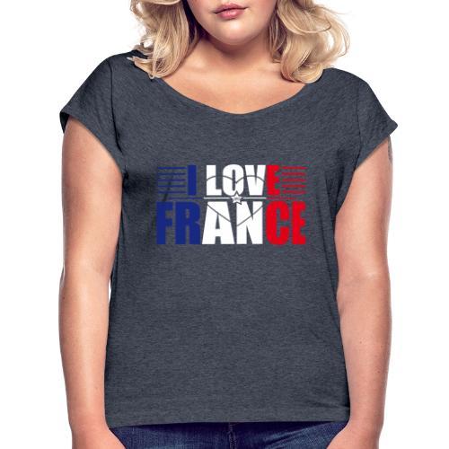 love france - T-shirt à manches retroussées Femme