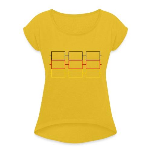 FAIRstand 20.1 - Frauen T-Shirt mit gerollten Ärmeln
