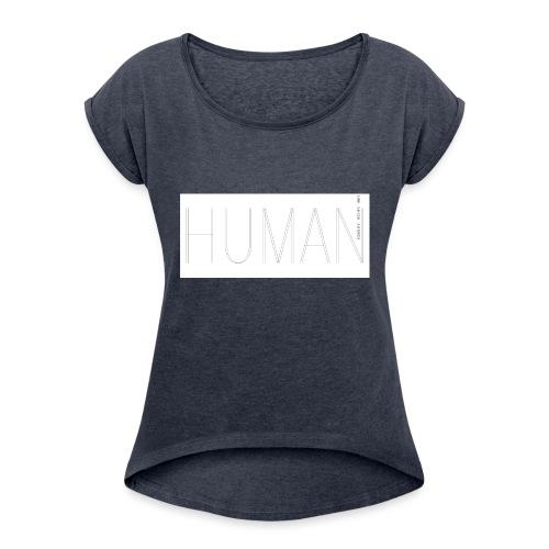 Human Collection 1.0 - T-shirt med upprullade ärmar dam