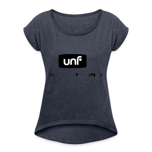UNF_svartvit-eps - T-shirt med upprullade ärmar dam