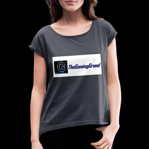 grand picture for white - Women's T-Shirt with rolled up sleeves