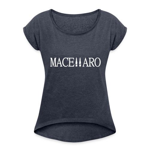 MARCELLARO T-SHIRT - Dame T-shirt med rulleærmer