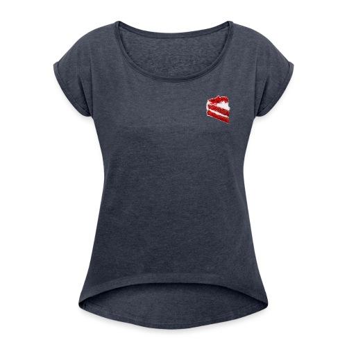 RedvelvetCake - Frauen T-Shirt mit gerollten Ärmeln