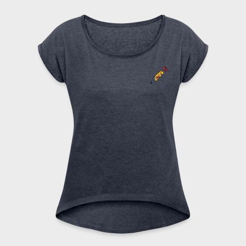Frühling - Frauen T-Shirt mit gerollten Ärmeln