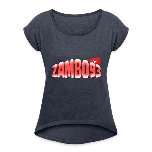 ZAMBO93OFFICIAL - Maglietta da donna con risvolti