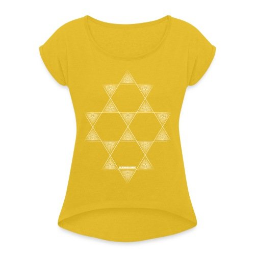 BHS LOGO_pattern-12 - Women's T-Shirt with rolled up sleeves