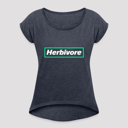 Herbivore Logo White - Maglietta da donna con risvolti