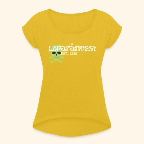 loeparangest - T-shirt med upprullade ärmar dam