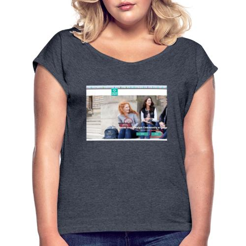 user2 - Women's T-Shirt with rolled up sleeves