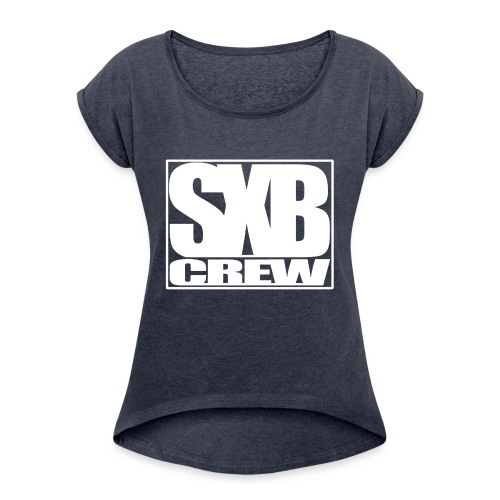 SXB Crew logo - Vrouwen T-shirt met opgerolde mouwen
