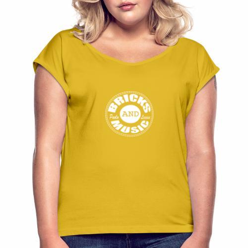 Logo bricks and music WHITE - Maglietta da donna con risvolti