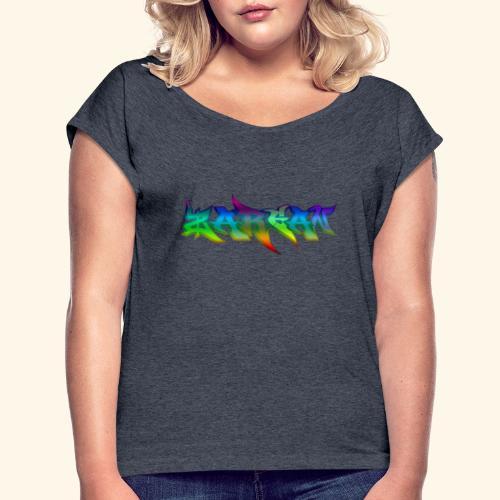 ZARGAN - T-shirt à manches retroussées Femme