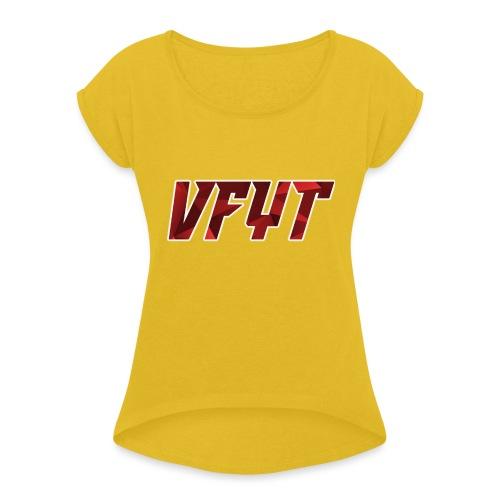 vfyt shirt - Vrouwen T-shirt met opgerolde mouwen
