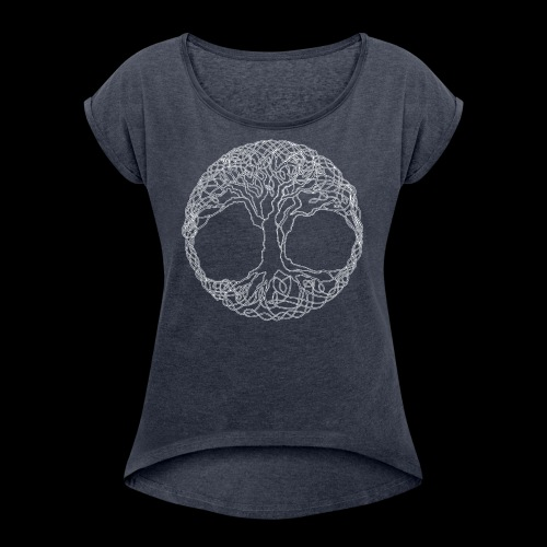 Tree of Life - Women's T-Shirt with rolled up sleeves