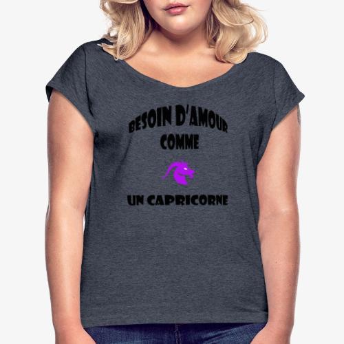 capricorne - T-shirt à manches retroussées Femme